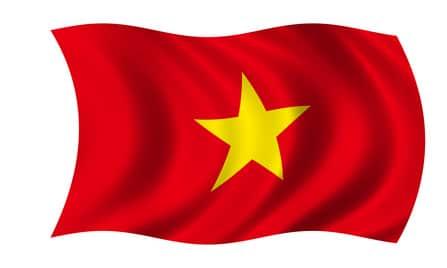 Gelben mit fahne stern rot Vietnam Flagge