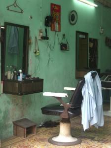 Vietnamesischer Friseurladen in Hanoi