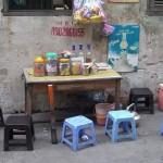 Walk-In-Küche in den Straßen von Hanoi