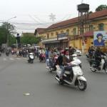 Auch im Old Quarter herrscht reger Verkehr