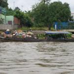 Das Wasser ist Haupttransportweg im Mekong Delta