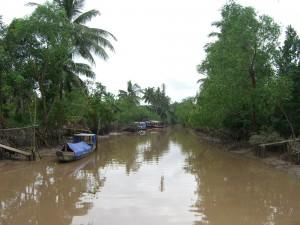 Wasserstraße im Mekong Delta in der Nähe von An Binh