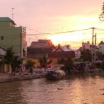 Einfahrt nach Long Xuyen, zweitgrößte Stadt im Mekong Delta