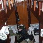 Auf den Reisebooten im Mekong Delta ist es eng und gemütlich