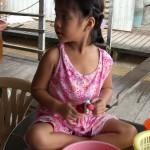 Vietnamesisches Mädchen im Mekong Delta
