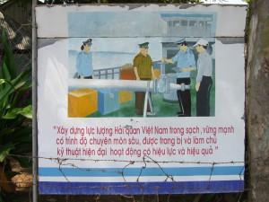 Grenzschild zur kambodschanischen Grenze