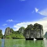 Halong Bay bei bestem Wetter
