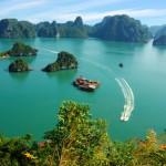 Halong Bucht von einer Aussichtsplattform