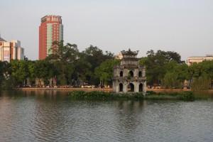 Netter Ausblick im Old Quarter: Der Hoan-Kiem See in Hanoi