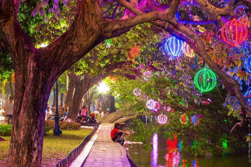 Das Old Quarter bei Nacht