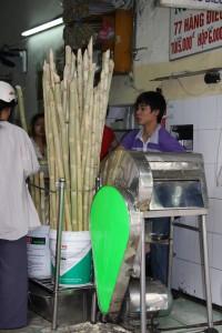 Bambus wird in Vietnam auch für frische Getränke verwendet