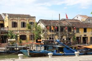 Die alte französische Architektur von Hoi-An