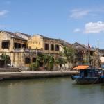 Die französische Architekturfassade der Altstadt von Hoi-An