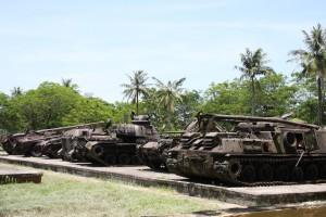 Diese Panzer zeugen von den Kämpfen um Hue im Vietnamkrieg