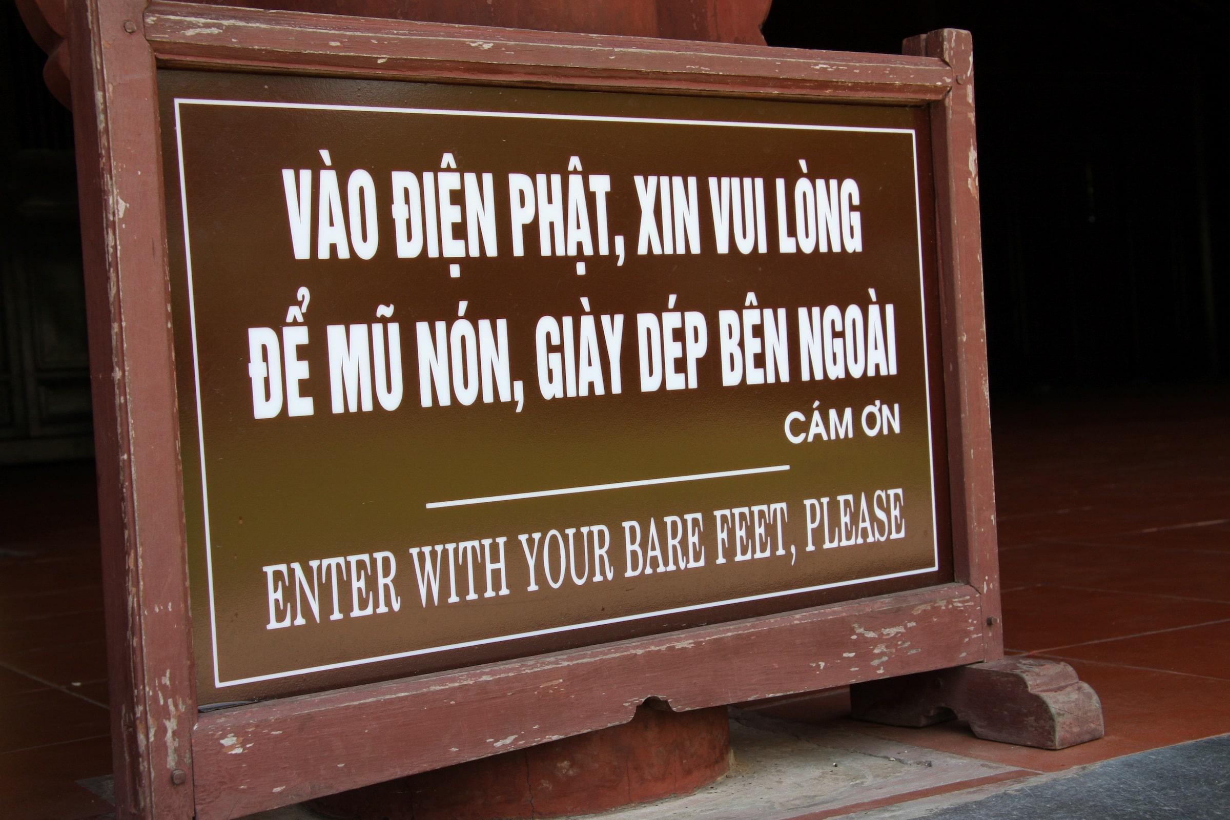 In Ganz-Südostasien, nicht nur in Vietnam, sollte man die Verhaltensregeln beachten