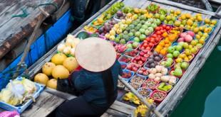 Fliegender Händler in Vietnam