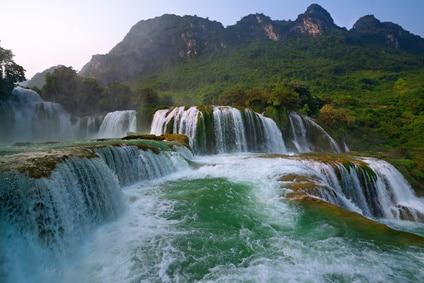 Ban Gioc Wasserfaelle in der Naehe der chinesischen Grenze