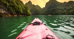 Kayaking in der Halong Bucht