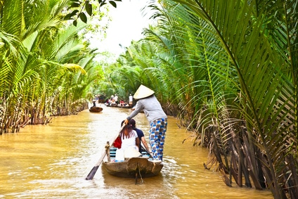 Im Mekong Delta ist das Boot das Hauptverkehrsmittel.