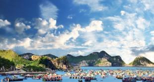 Der Hafen von Cat Ba ist eingebettet in eine wunderschöne Natur.