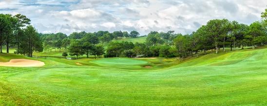 Golf wird in Vietnam (hier Da-Lat Golfplatz) immer populärer