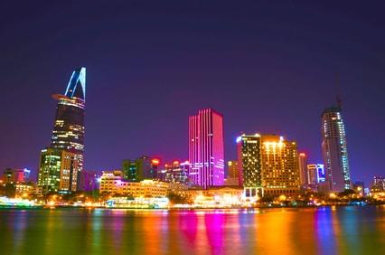 Die Skyline von Saigon kann sich sehen lassen...
