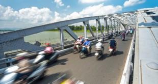 Der Verkehr in Vietnam kann sehr chaotisch sein...
